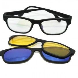 Ochelari de soare magnetici polarizati cu lentile interschimbabile