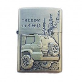 Bricheta tip zippo, 3D relief, metalica, king of 4wd m4