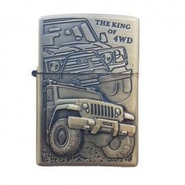 Bricheta tip zippo, 3D relief, metalica, king of 4wd m2