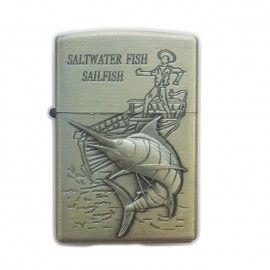 Bricheta tip zippo, 3D relief, metalica, pescuit p3