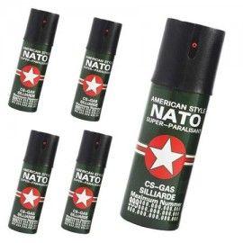 Set 5 spray piper paralizant, iritant, lacrimogen, 60 ml
