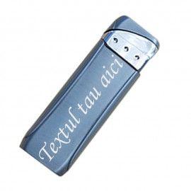 Bricheta metal antivant gri gravata cu textul tau