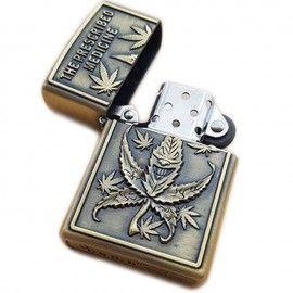 Bricheta tip zippo, 3D relief, metalica, prescribed medicine weed