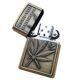 Bricheta tip zippo, 3D relief, metalica, stay high