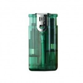 Bricheta lux double flame transparenta, verde