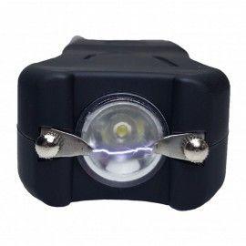 Lanterna cu electrosoc si acumulator de buzunar, Dalimag, negru, 10 cm, husa