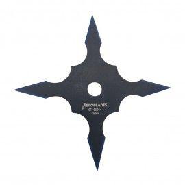 Steluta ninja, stea samurai pentru aruncat la tinta 4 colturi in husa, neagra, 10 cm