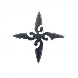 Steluta ninja, stea samurai pentru aruncat la tinta 4 colturi in husa, Dalimag, negre, 6 cm