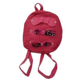 Ghiozdan copii tip rucsac fundite, roz, fermoar, Dalimag, 22x25x10 cm