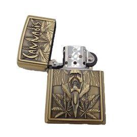 Bricheta tip zippo, 3D relief, metalica, canabis 2