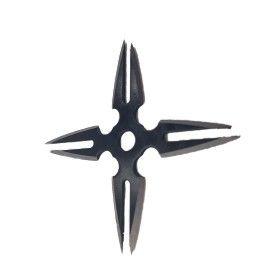 Steluta ninja, stea samurai pentru aruncat la tinta 4 colturi in husa, negre, 8 varfuri, 6 cm,...