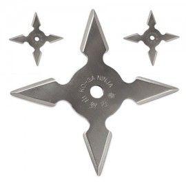 Set 3 stelute ninja,pentru aruncat la tinta 4 colturi in husa