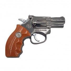 Bricheta antivant lanterna pistol metal, 13 cm, imitatie lemn