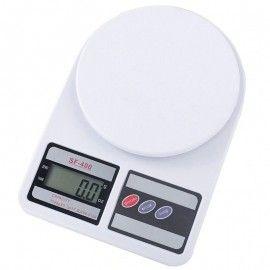 Cantar de bucatarie, Electronic, display LCD 2 inch, functie Tara, maxim 10 kg, alb