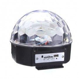 Glob disco cu lumini LED RBG, USB si telecomanda IR, Dalimag