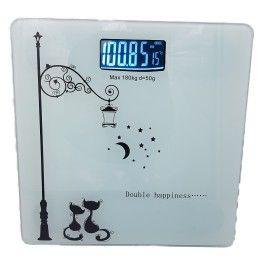 Cantar de baie,electronic, 180 kg, diviziune 50 g, alb