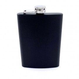 Plosca otel inoxidabil 8oz 240 ml pentru bauturi fine, negru
