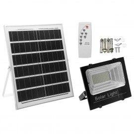 Kit solar, proiector led cu telecomanda si panou solar IP 66, 25w