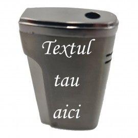 Bricheta metalica personalizata cu textul tau, gaz, antivant, cutie, negru