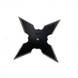 Steluta ninja pentru aruncat la tinta 4 colturi, in husa, negru,4.5 cm,