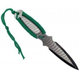 Cutit ninja de aruncat in copaci,18 cm, verde