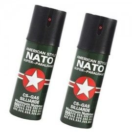 Set 2 spray piper paralizant, iritant, lacrimogen,Nato,60 ml