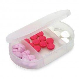 Cutie separator de pastile si medicamente pentru varstnici , gri, 3 compartimente 6/4/1 cm