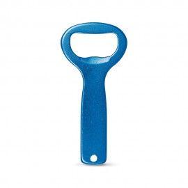 Mini desfacator de bere simplu albastru, 8/4 cm