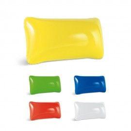 Pachet 5 perne gonflabile pentru plaja sau camping alb, galben, rosu, albastru, verde 31/19cm