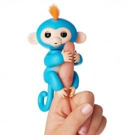 Maimutica haioasa, happy monkey, albastra, interactiva