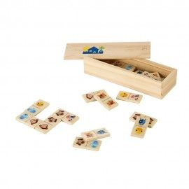 DOMIN. Joc de domino din lemn