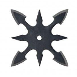 Steluta ninja pentru aruncat la tinta, neagra, 8 colturi, 6 cm